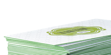 Trifecta business cards thick triple layer at gotprint trifecta green is a triple layered stock with green edges this 520 gsm card stock is a high quality smart white paper with a velvet finish colourmoves