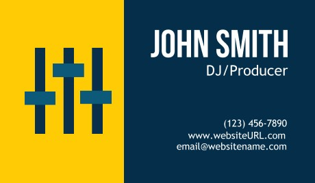 Dj business cards at gotprint featured templates reheart Choice Image