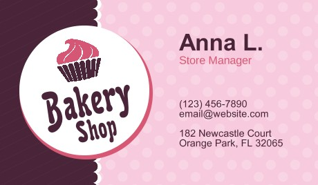 Bakery business cards at gotprint industry shades bakery business cards reheart Image collections
