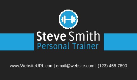 personal trainers business cards