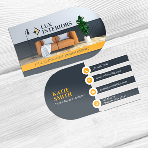 Half Circle Business Cards At Gotprint Com