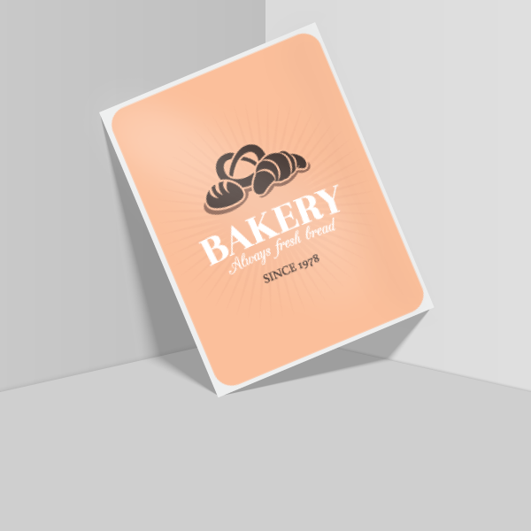 "3"" x 4"" Rounded Rectangle"