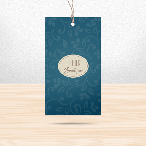 500 Custom Printed Thin Hang Tags Super Thick 15pt Cardstock Professionally Printed 1 x 2.75 inches Great High End Quality